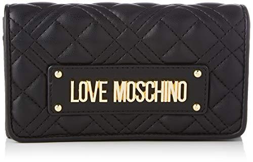 Love Moschino Damen SS21 Geldbörse, Schwarz, Normal