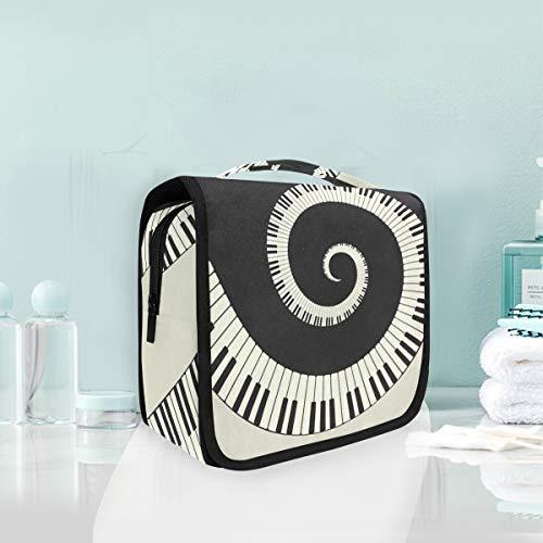 Sac cosmétique Voyage Pendaison Trousse De Toilette Art Musique Résumé Piano Voyage Sac De Rangement Portable Maquillage Poche Sac Organisateur Cas pour Les Femmes
