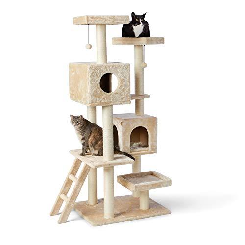 Amazon Basics Extra Large Cat Tree Tower With Dual Condo...