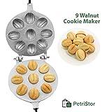 Walnut Cookie Mold (Oreshek) Maker 9 Halves Nuts Oreshki Russian Soviet Cookies Pastry + bonus + recipe
