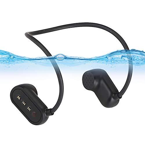 AQUYY IPX8 Impermeable Auriculares Bluetooth 5.0 para Natación y Correr con Memoria 16G, Auriculares Inalambricos de Conducción ósea Reproductor de Música MP3, Cascos Deportivos con Microfono 16GB
