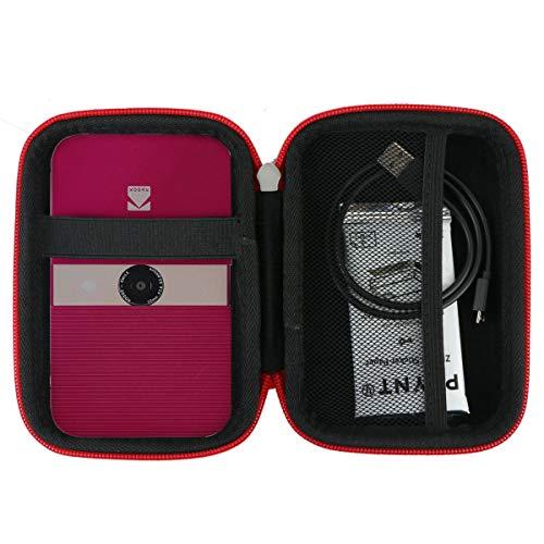 Khanka EVA Duro Caso Recorrido Bolso Funda Estuche Case para Kodak Smile Impresora Digital instantánea/Instax Cámara instantánea (Negro/Rojo)