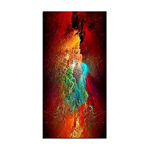 Canvas print,Groot formaat Print schilderij Muurschildering abstract groen rood Wall Art foto voor woonkamer schilderij-70x140cm