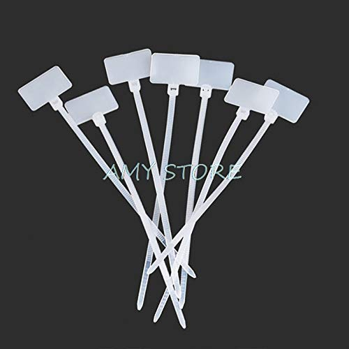 100Pc en nylon auto-bloquant l/'étiquette de câble réseau collier marqueur DI