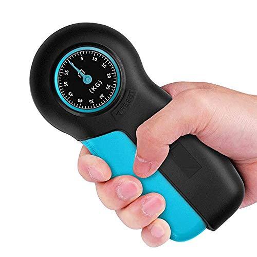 SMX Uomini e Donne Impugnatura Forma Fisica Forza della Mano Digitale Dinamometro Hand Grip Forza di Misura Auto Meter Cattura Mano Power Grip (Color : Blue)