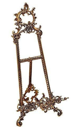 arterameferro Cavalletto in Ottone Lucido portafoto portaquadro da Tavolo 40 cm Barocco