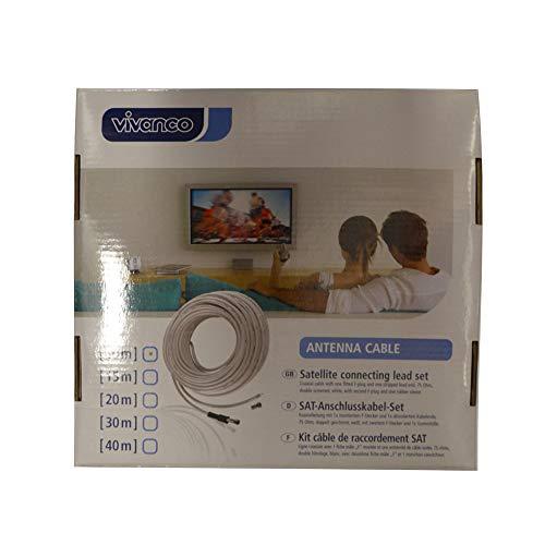 Cable de Antena Sat VIVANCO 44055 10/160-N Color Blanco