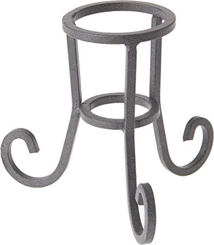 """Bard's Dark Gray Wrought Iron Egg Stand/Holder, Scroll Leg, 2"""" Diameter"""