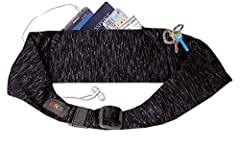 ADJUSTABLE FIT: The BANDI Large Pocket Belt is sleek with a secure buckle and adjustable sizing to fit comfortably around the high hip, 28-42 inches (XS-XL) SAFE AND SECURE: Two safe and secure pockets: Divided main pocket, 7.5 x 3.5 inches, for phon...