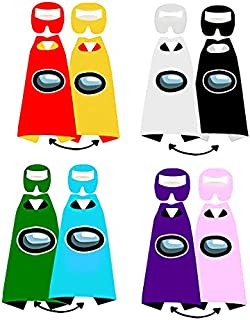 10 Pack Cosplay Masks Imposter Crewmates Costumes Felt Masks for Kids Party Favors Halloween