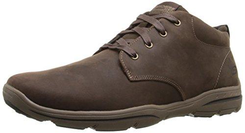 Skechers Harper-Melden, Zapatillas de Deporte Hombre, Negro (Choc Black Leather), 41.5 EU