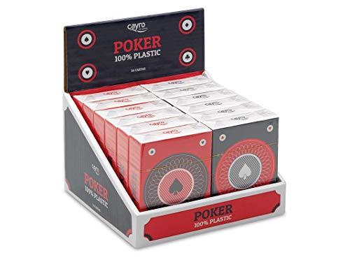 Cayro - Baraja Poker 100% plástico - Juego Tradicional - Juego de Mesa - Desarrollo de Habilidades cognitivas y lógico matemáticas - Juego de Mesa (5505)