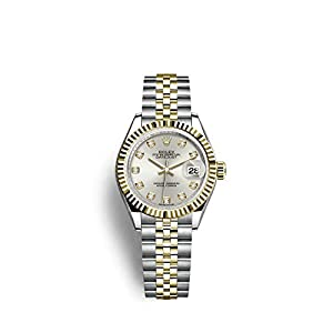 Rolex 18K yellow gold fluted bezel Day Just Ladies Watch image