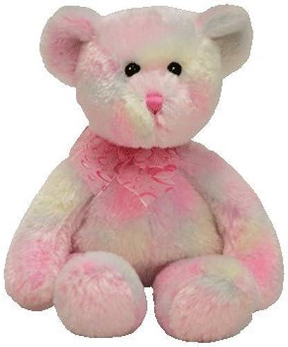 Ty Fauna Beanie Teddy B Rosa Weiß 18 cm