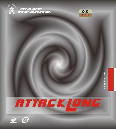 Tenis de mesa goma: Giant Dragon Attack largo rojo ox