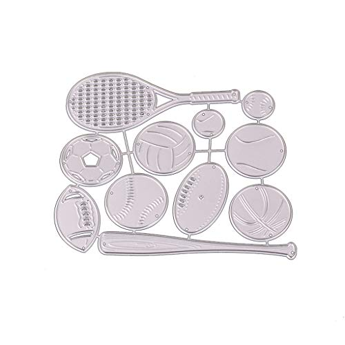 Happinter Die Cuts, Baseball Bat Metal Cutting Die Cuts For Card Making Metal Mould Template For DIY Scrapbook Album Embossing Crafts Decor