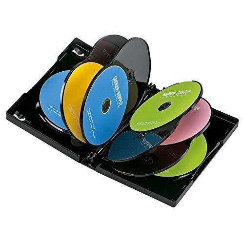 サンワサプライ DVDトールケース(10枚収納) ブラック 1枚セット DVD-TW10-01BK