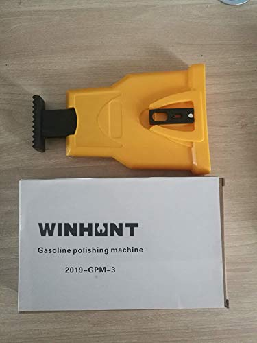 WINHUNT Chainsaw Sharpener,The Second Generation New Chainsaw Teeth Sharpener Universal Chain Saw Blade Sharpener Fast Sharpening Chainsaw Chain Sharpener Fit (Yellow)