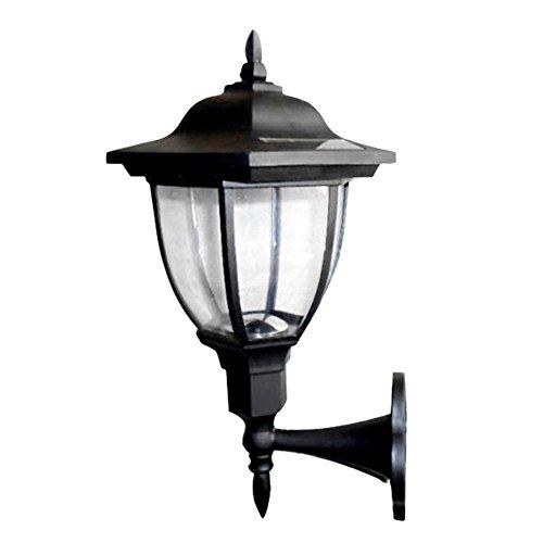 ttnight Outdoor Solar Power LED Light Path Way Landscape Garden Fence Wall Lamp (Warm Light)