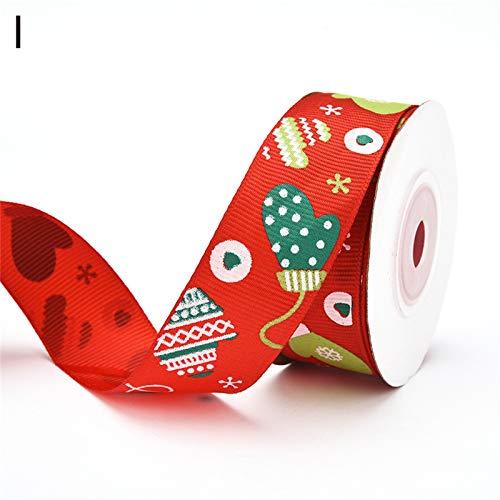 Lemoning Decoration & Hangs, 2.5Cm Christmas Ribbon Gift Wrapping Ribbon Snowflake Shimmer Ribbons