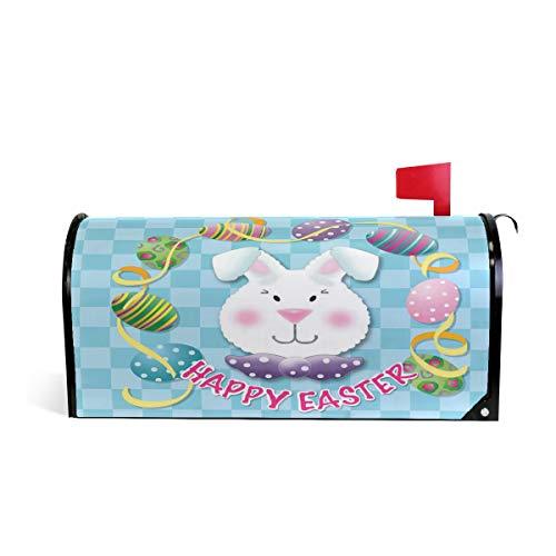 Wamika Happy Easter Bunny Boîte aux Lettres magnétique Motif œufs colorés 52.6x45.8cm Multicolore