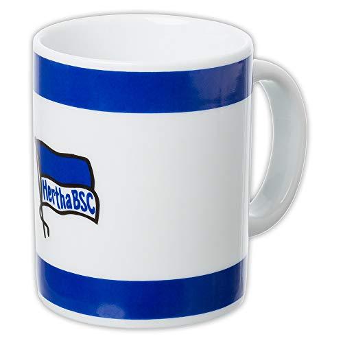Hertha BSC Berlin Tasse - Logo - blau-weiß, Kaffeetasse, Kaffeebecher, Coffee Mug - Plus Lesezeichen I Love Berlin