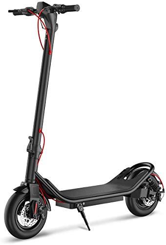TOEU Trottinette Electrique, Vitesse jusqu à 25 km h, 25 km la Longue portée, Moteur de 350W avec écran LCD,Trottinette Adulte Pliable électrique (Black)