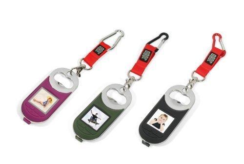 JOBO Key Frame schwarz mit digitalem Bilderrahmen 3,8cm und Flaschenöffner