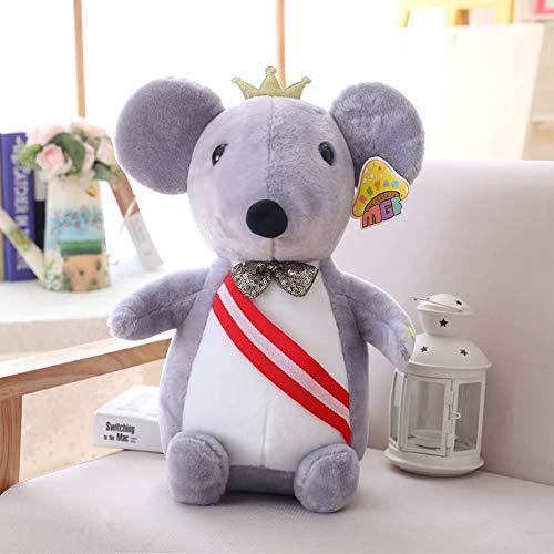 weiqiang Süße Kronen Maus Puppe Gummibärchen Maus Puppe Frucht Maus Plüsch Puppe 45cm E