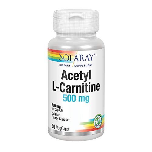 Solaray Acetyl L-Carnitine 500mg | Acetil L-Carnitina | 30 VegCaps