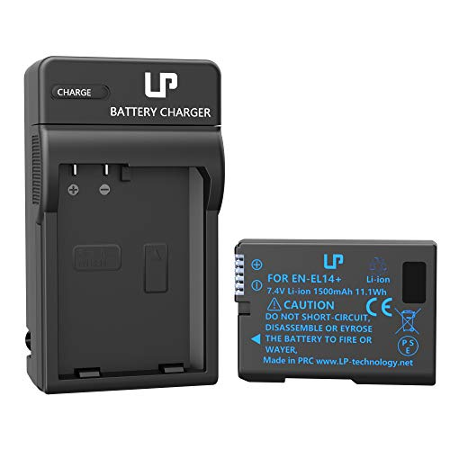 EN-EL14 EN EL14a Battery Charger Pack, LP Charger Compatible with Nikon D3500, D5600, D3300, D5100, D5500, D3100, D3200, D5200, D5300, D3400, DF, Coolpix P7000, P7100, P7700, P7800 Cameras & More