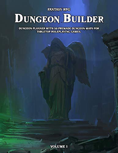 Dungeon Builder: Dungeon Maker with 50 Premade Dungeon Maps for Tabletop Roleplaying Games.