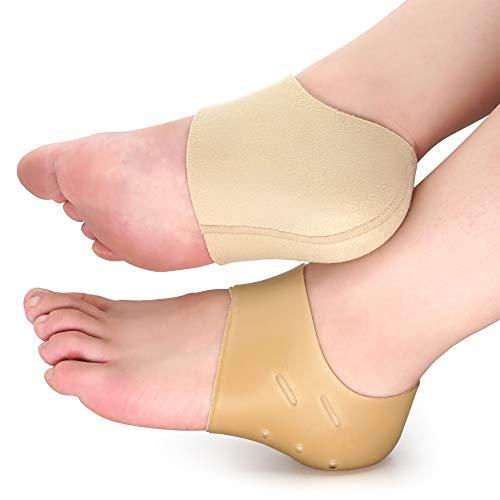 Dr. Foot's Heel Protectors, Heel Sleeves for Relieve Heel Pain from Plantar Fasciitis, Heel Spur, Cracked Heels(Large - Women's 8-13.5   Men's 7-13)