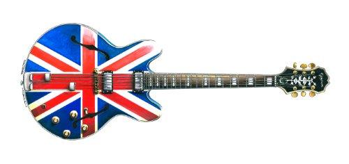 Noel Gallagher Epiphone Sheraton Union Jack Gitarre Grußkarte, DL-Größe