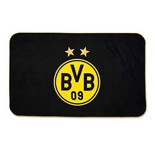 Borussia Dortmund Sporthandtuch mit Beutel (one size, Schwarz)