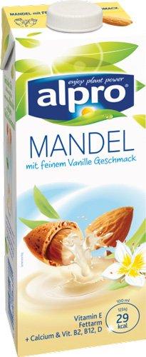 8x Alpro - Mandel Drink mit Vanillegeschmack - 1000ml
