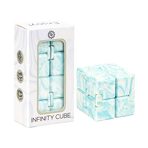 Daily Vibrations | Infinity Cube | Durable Stress Relieving Fidget Toy | Stress and Anxiety Relief Fidget Cube | Relaxing Hand-Held Fidget Toy for Adults and Kids