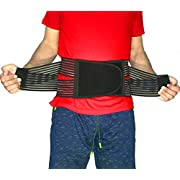 Best Back Brace Lumbar Support Belt for Lower Back Pain | Men & Women Under Clothes Breathable Fabric Big Size | Relief disc Sciatica Scoliosis Surgery Pain | Dual Stretch Heavy Lift