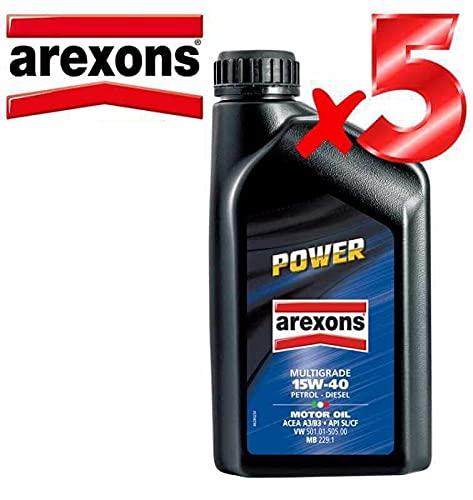 Aceite de motor 15w40 Petronas/Arexons Power Multigrado 5 L Motores Gasolina y Diésel