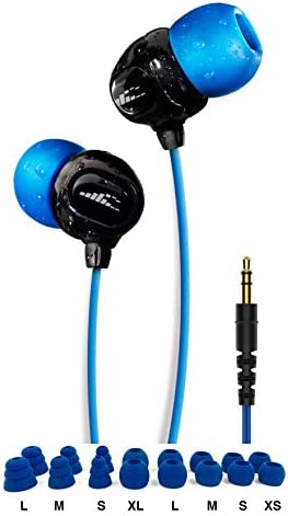 100% Waterproof Stream MP3 Music Player with Bluetooth and Underwater Headphones for Swimming Laps, Watersports, Normal Cord, 8GB – by