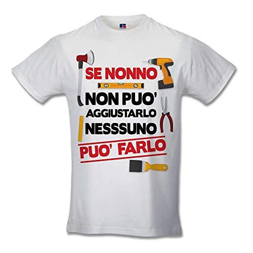 Babloo T Shirt Uomo Simpatica Idea Regalo Festa dei Nonni Se Nonno Non Puo' Aggiustarlo Nessuno Puo'...