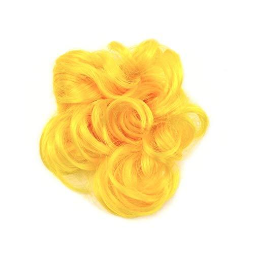 rougecaramel - Elastique chouchou faux cheveux - jaune