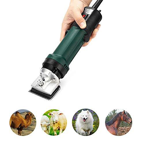 ZED- Professionele paarden tondeuse, 6 versnellingen, krachtige scheermachine, paard, vachtverzorgingsset, elektrische paardenschaar voor honden/runder/Esel/alpacas/lamas en andere dieren met draagkoffer, groen
