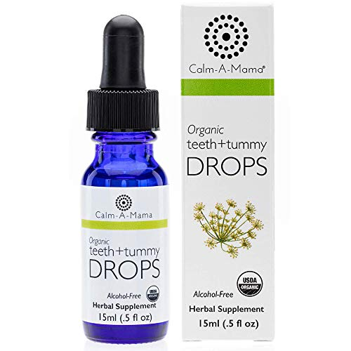 Teeth and Tummy Pain Relief Drops for Kids & Babies (0.5oz -15ml) - Natural Alternative for Pain - Fennel Extract with Sweet Natural Taste - Homeopathic Medicine for Toothache and Tummy Pains Colics - Made in the USA - 75 Servings