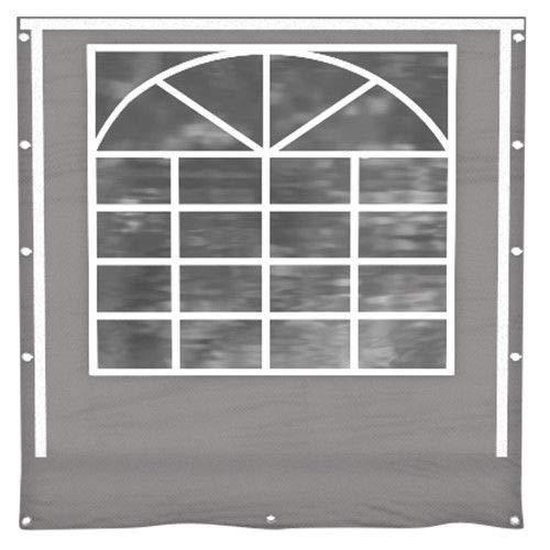 Das Company Seitenwand 2x2m Partyzelt Fenster grau Ersatz PVC Zubehör