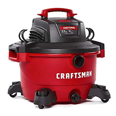 CRAFTSMAN 17594 12 Gallon 6 Peak HP Wet/Dry Vac, Portable Shop Vacuum with Attachments