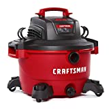 Craftsman - CMXEVBE17594 CRAFTSMAN 17594 12 Gallon 6 Peak HP Wet/Dry Vac, Portable Shop Vacuum with Attachments Red and Black