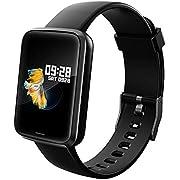 Lintelek Smartwatch NEU Smart Watch Health Watch Fitness Armband Pulsuhren Sportuhr Farbbildschirm Blutdruck Kompatibel GPS Fitness Tracker Gift mit Damen Herren und Kinder