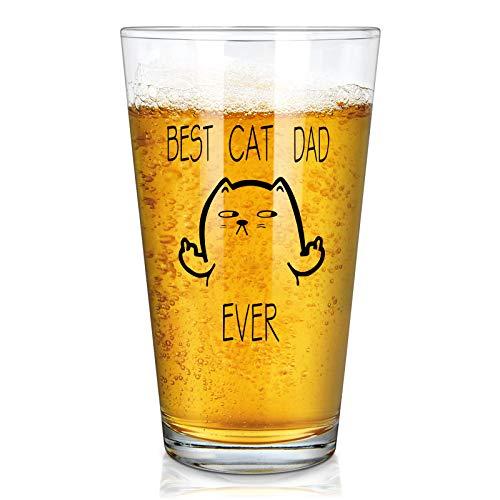 Best Cat Dad Beer Glass
