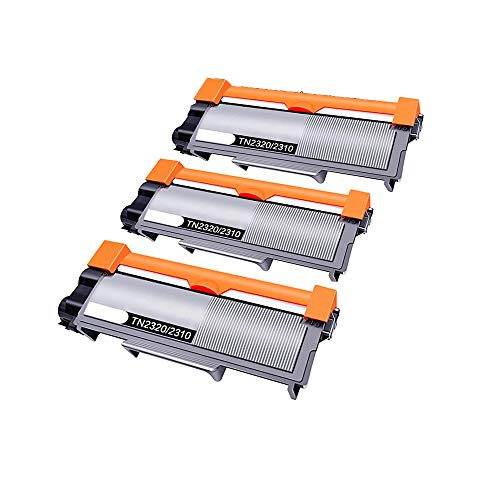 Pack 3 Toner Compatible TN2320 Negro